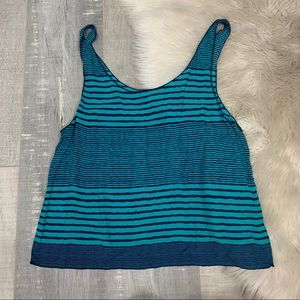 American Eagle Outfitters Green Striped Tank Top